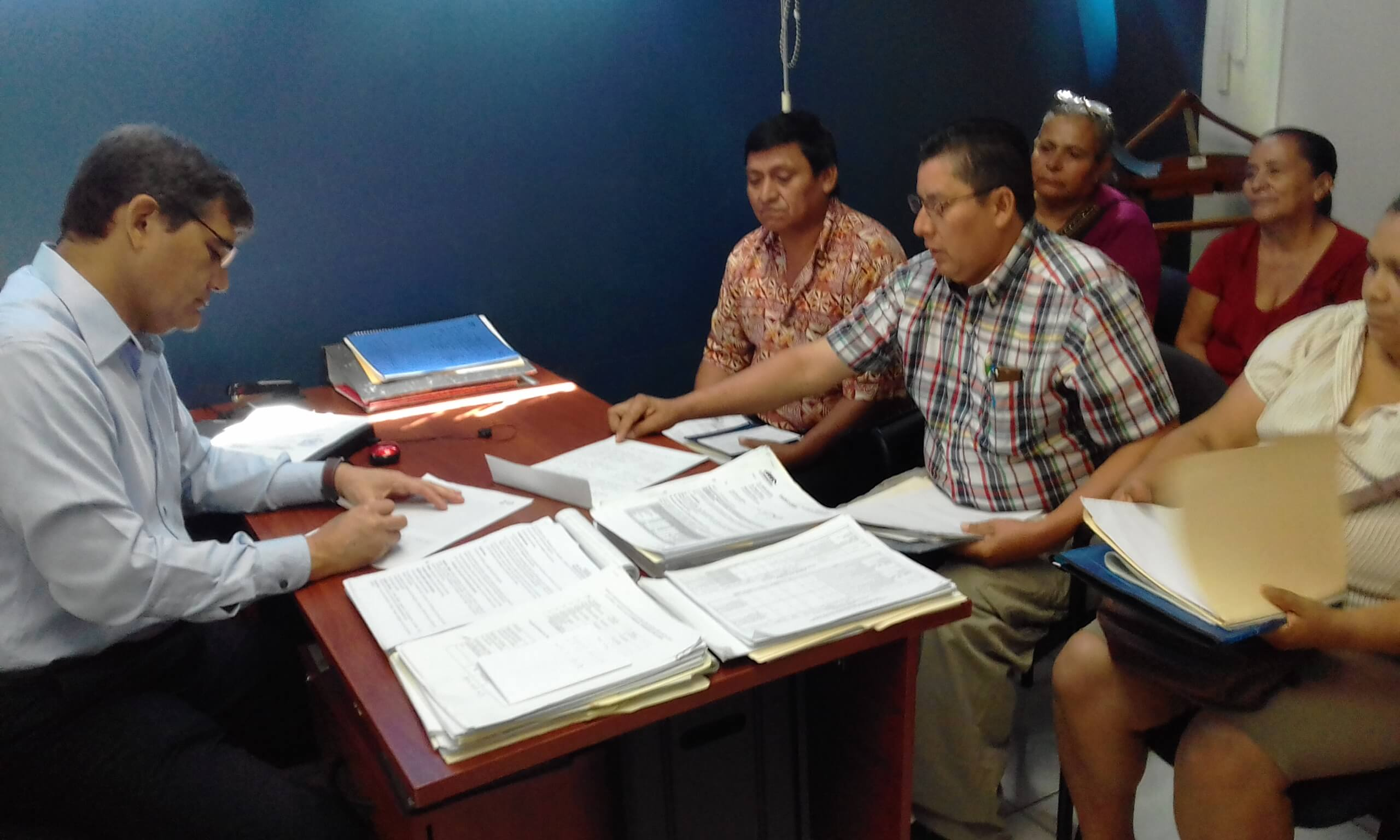 COFOA Leaders Meet With The Manager Of FODAVIPO Regarding Faulty Property Deeds In Rosario