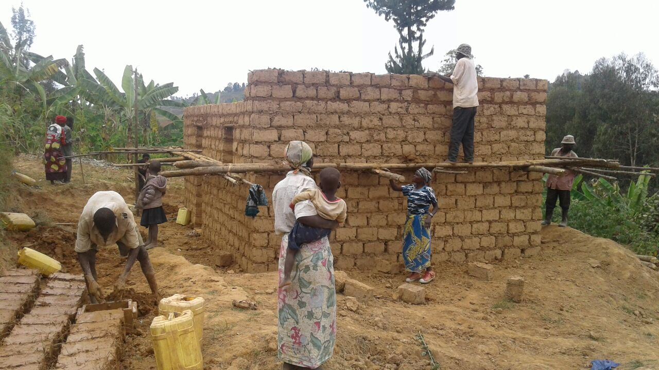 Home Being Build For Epiphany In Nyange
